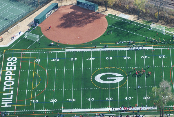 Glenbard West High School Athletic Turf - cropped 2